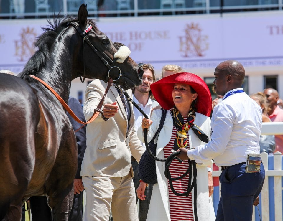 Erik The Red with Susan Rowett of Varsfontein. Image: Candiese Lenferna